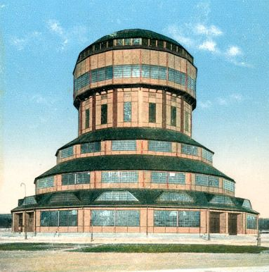 Poznan Poland, Water Tower czyli Wieża Górnośląska w 1911r. Obecnie na jej miesjcu znajduje się tzw. Iglica - symbol MTP.