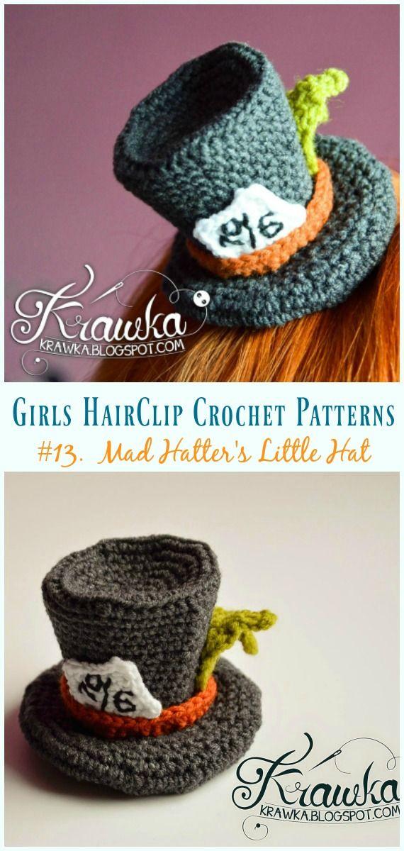 Girls Hairclip Accessories Free Crochet Patterns Crochet Hair