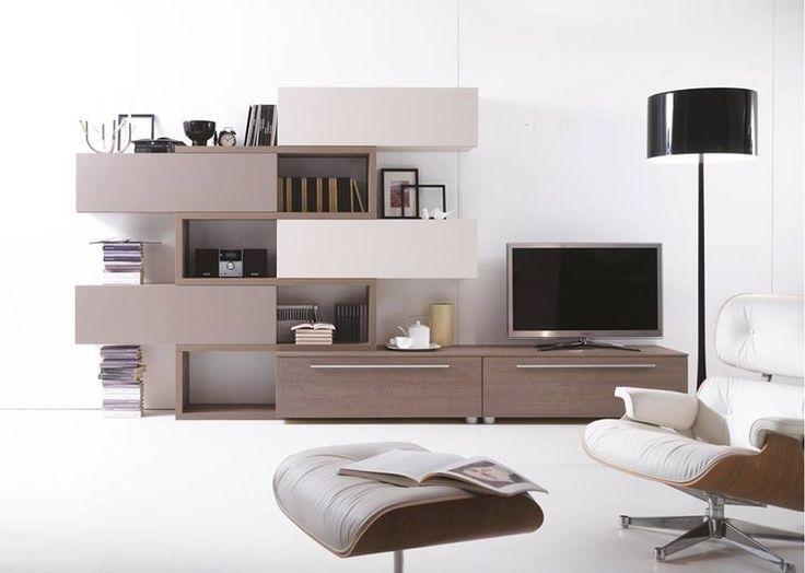 #living #interiors #design #sofa #arredamento #campania #home #books #library