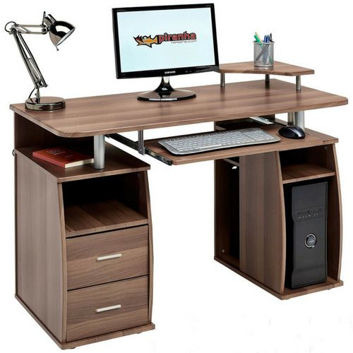 Office Desk Home Computer Sliding Keyboard Shelves Drawer Table Pc Workstation