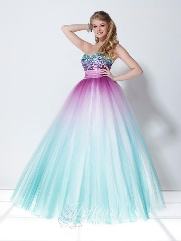 Best 25+ Rainbow prom dress ideas on Pinterest   Pretty dresses ...