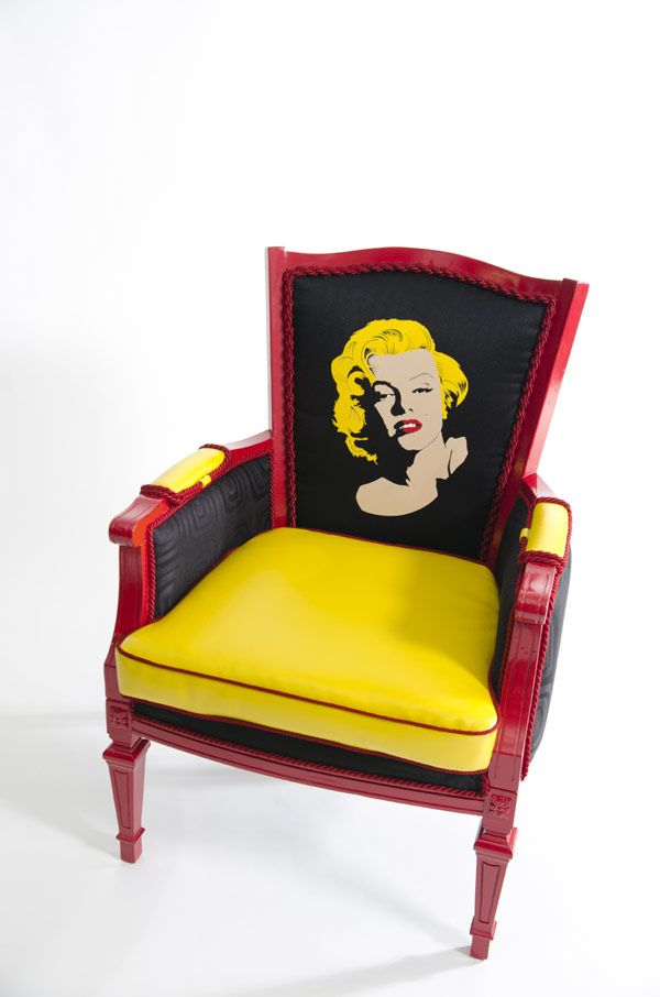 Limited Edition Recycled and Refurbished Boom Boom Chairs ~ by Christine Delvecchio #wantone