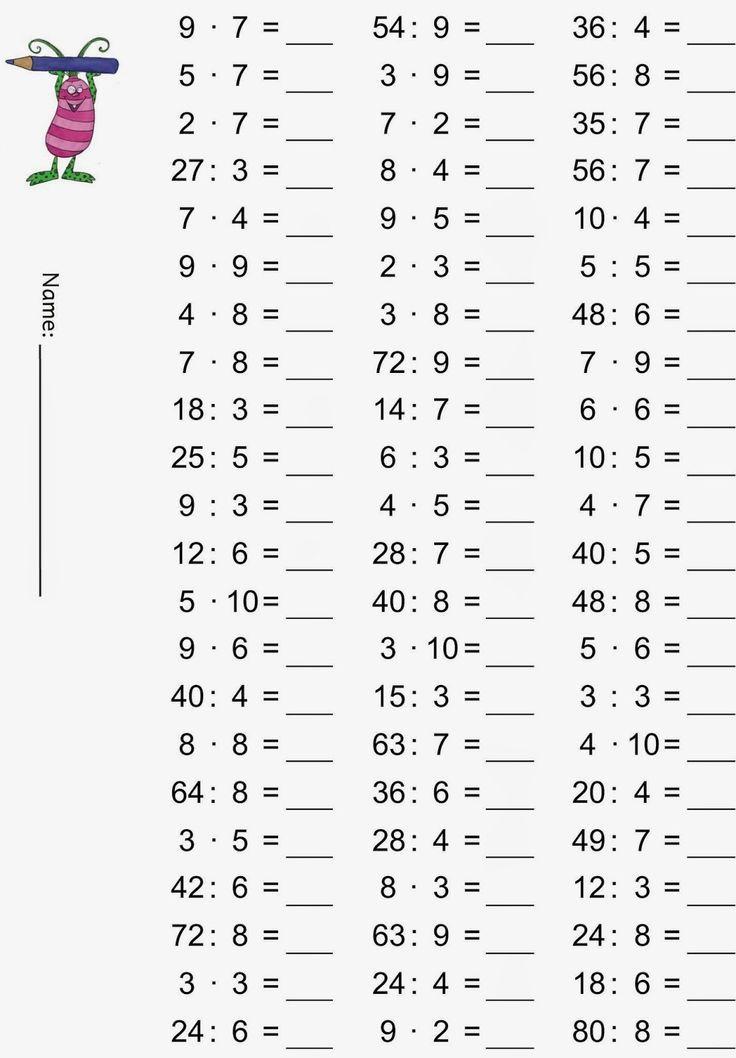 """Képtalálat a következőre: """"matematika feladatok 2. osztály szorzás osztás nyomtatható"""""""