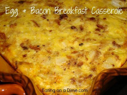 Egg & Bacon Breakfast Casserole