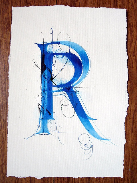 more beautiful calligraphy by Claudio Gil2013 03, R Typography, 201303