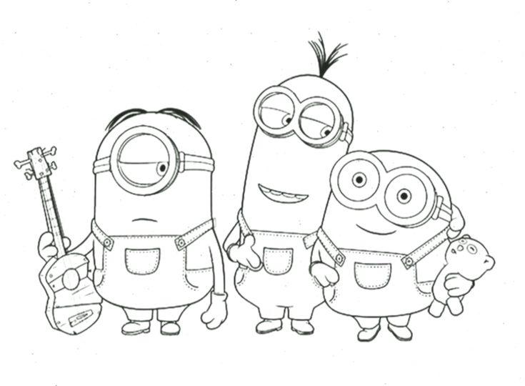 minion ausmalbilder für kinder in 2020  anime drawings