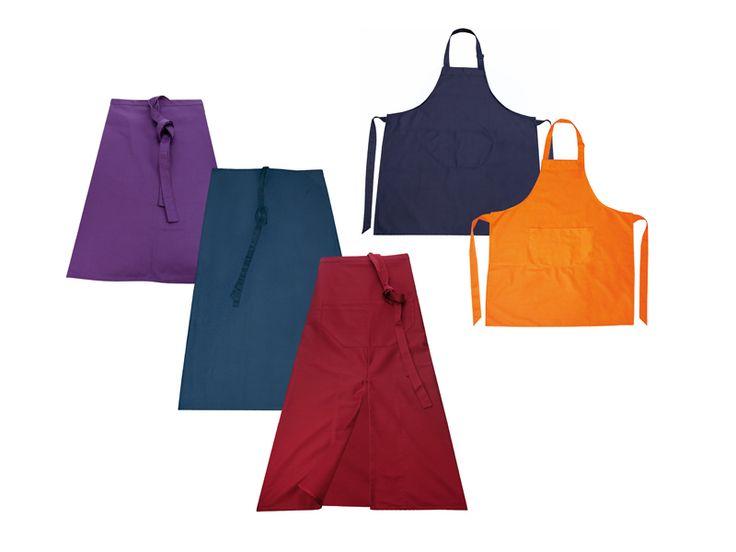 Schorten en sloven - Zorg voor een uniforme uitstraling van uw bedienend personeel door ze te kleden met een bedrukt horecaschort met de naam van uw zaak.