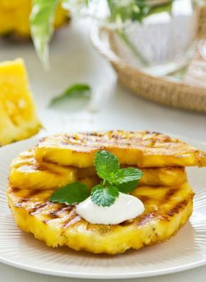 Grilled Pineapple Recipe. A healthy topping for a great salad.