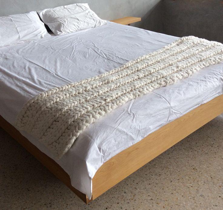 Beautiful rib stitch bed runner