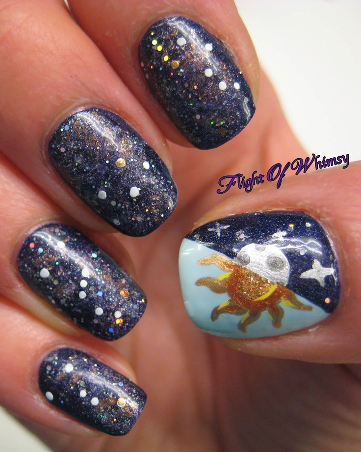 Simple Constellation Nail Art: 17 Best Images About You've Got Nail... (nail Designs) On