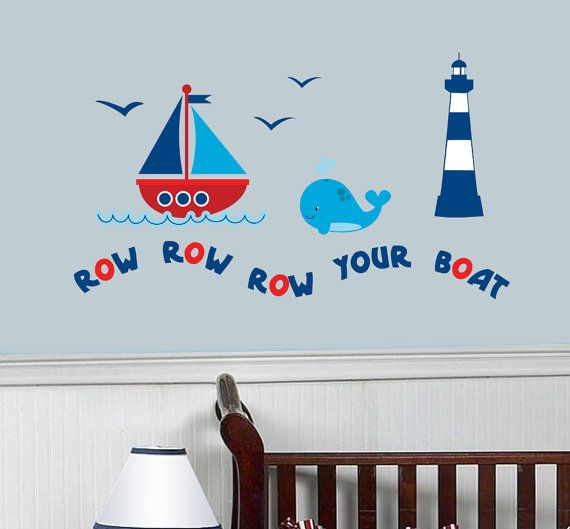 Nautical Nursery Wall Decals Boat Decal Nautical by StyleAwall, $54.99