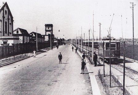 Tram presso gli stabilimenti SNIA Viscosa