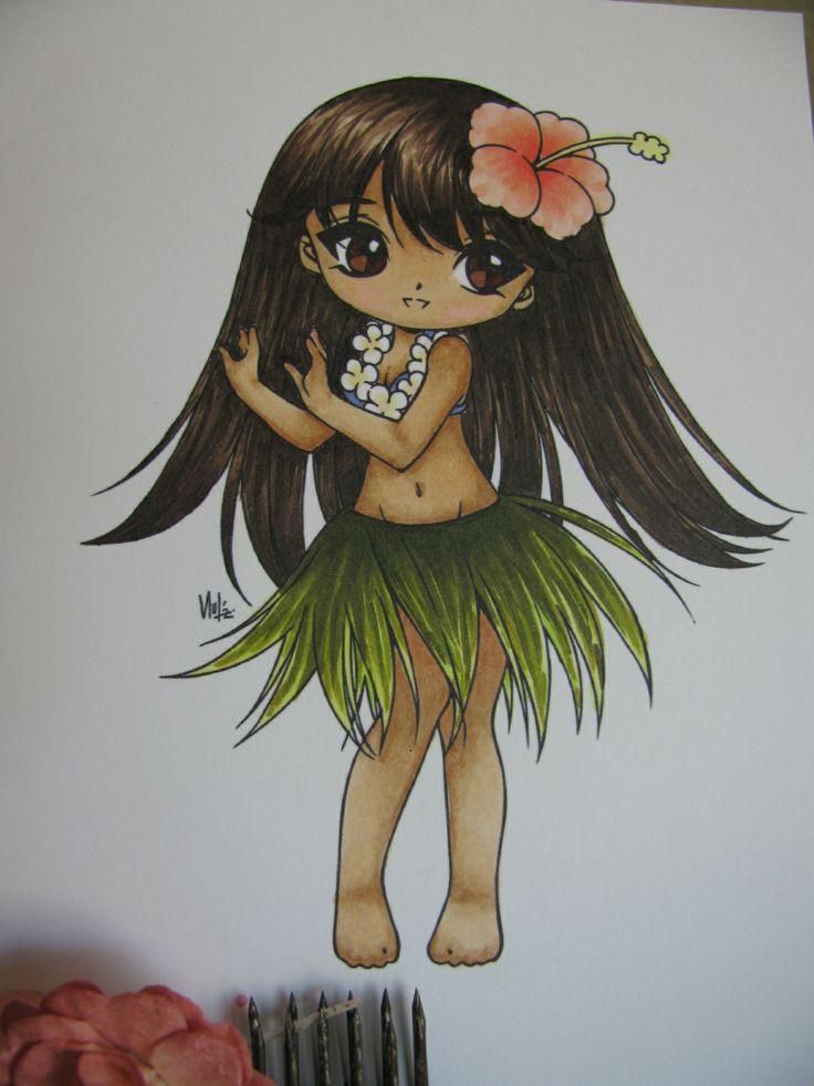 Hula Girl By Cathy Gomes