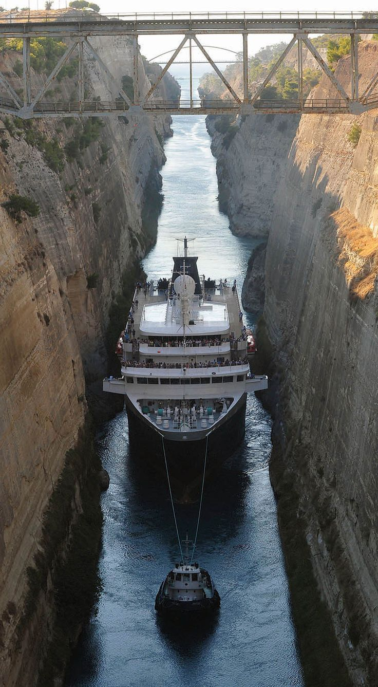 Transit the Corinth Canal - ms Minerva