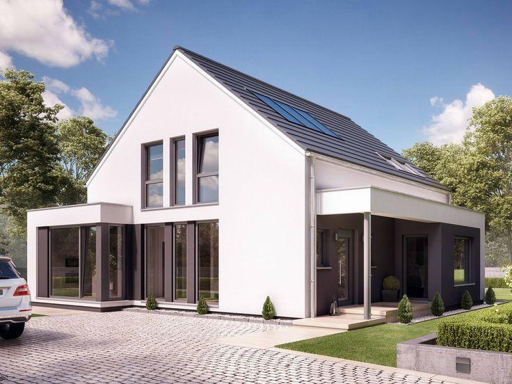 Fantastic 163 V2 • Traumhaus von Bien-Zenker • Modernes Fertighaus mit Satteldach und zwei Erkern • Jetzt bei Musterhaus.net informieren!