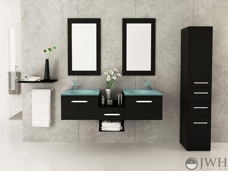 Annabelle 40 Inch Modern Bathroom Vanity Espresso Finish 16 best floating bathroom vanities images on pinterest | floating