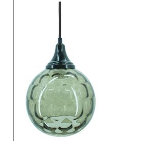 allen + roth 7-in W Oil-Rubbed Bronze Mini Pendant Light with Textured Shade