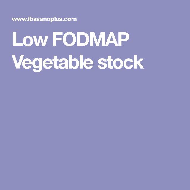 Low FODMAP Vegetable stock