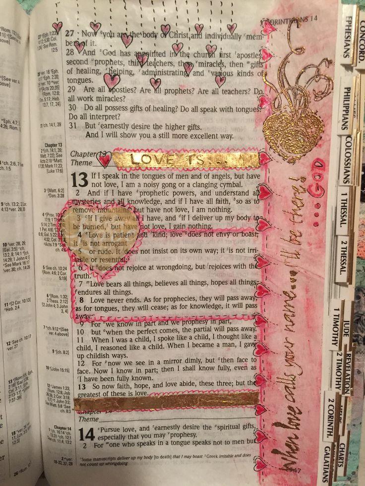 233 best corinthians 1 images on pinterest biblia children bible art journaling love is 1 corinthians 13 4 8 week 6 negle Images