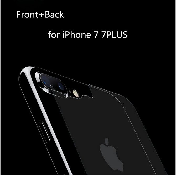 Front+Back Tempered Glass for iPhone 7 7PLUS Screen Protector Film for iPhone 4.7inch 5.5inch Toughened film