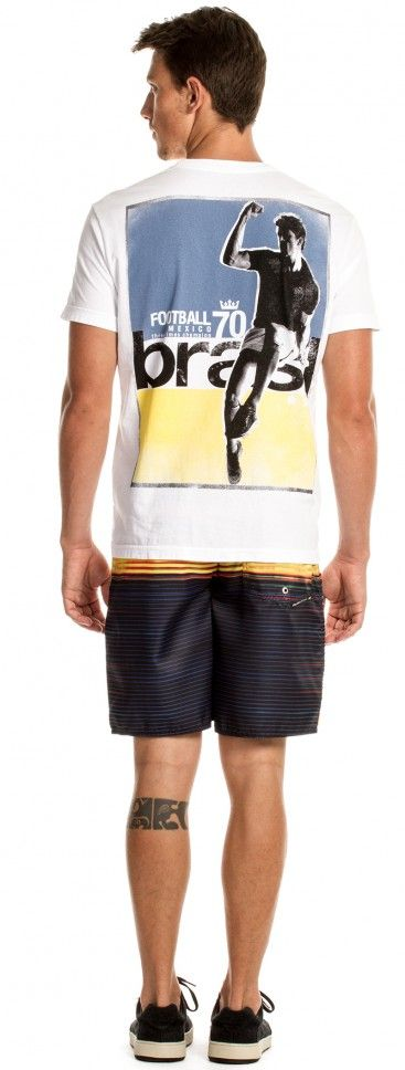 Osklen - T-SHIRT STONE GOAL CELEBRATION MC - t-shirts - men