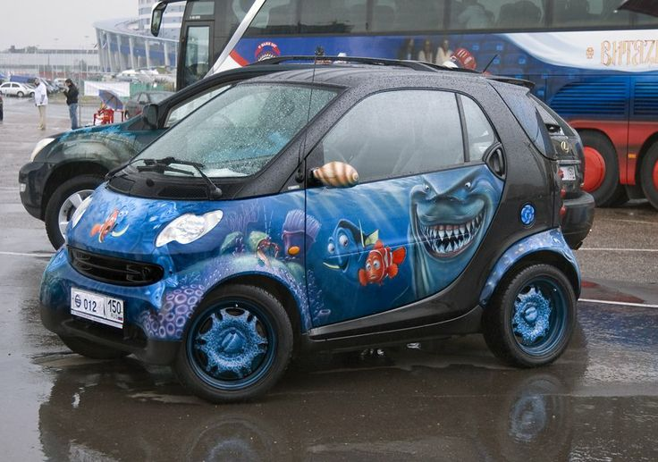 Funny Painted Smart Cars