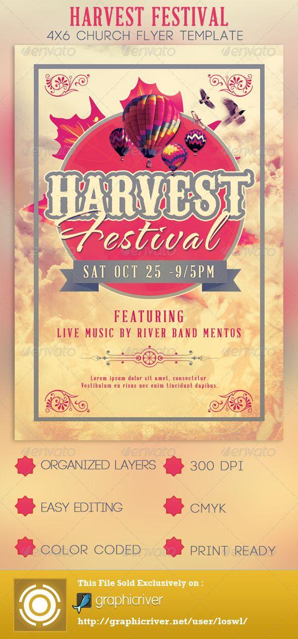 The Harvest Festival Church Flyer Template
