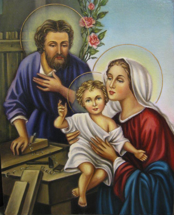 Святое Семейство (холст,масло,40х50,2017 г.)-художник Ядвига Сенько