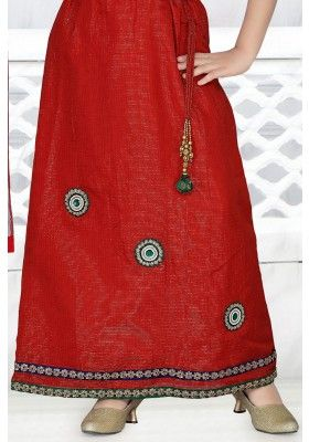 Hunter Green and #Carnelian Red #GottaSilk #Embroidered Lehenga Choli Sku Code: 198-5494KLL324109 US $57.00 http://www.sareez.com/catalog/product/view/id/63552/s/hunter-green-and-carnelian-red-gotta-silk-embroidered-lehenga-choli/category/230/