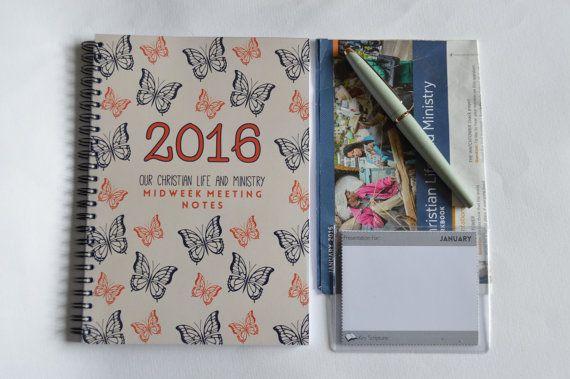 Midweek Meeting Notebook - JW, Bible Reading Notebook, NWT, 2016