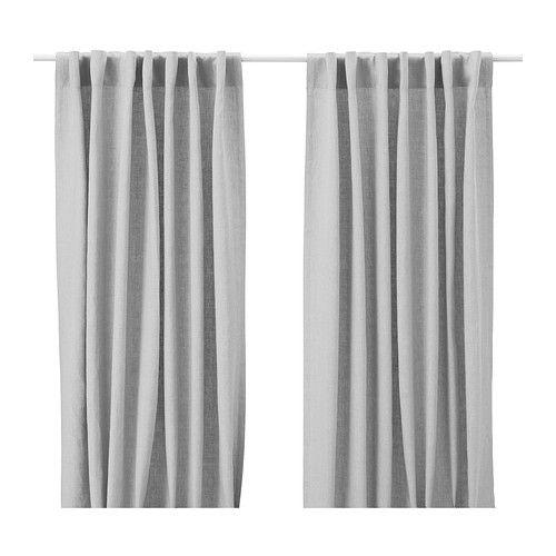 AINA Curtains, 1 pair, gray gray 57x98