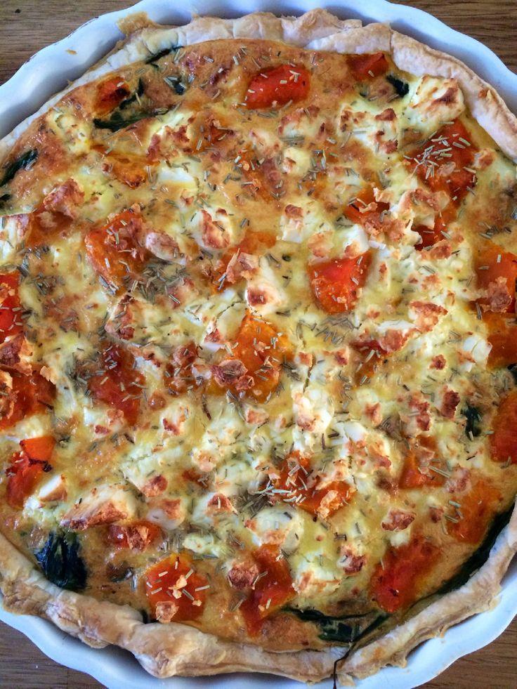Toch wil ik graag deze quiche met pompoen en spinazie alvast met jullie delen.