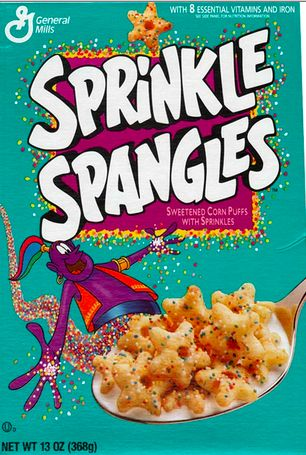 The 50 Greatest Discontinued '90s Foods and Beverages (Page 9) YUCK but heck memories are buttersweet: 90 S, 90S Kids, Remember This, Childhood Memories, Food, Sprinkles Spangled, Cereal Boxes, Spangled Cereal, Sprinkle Spangles