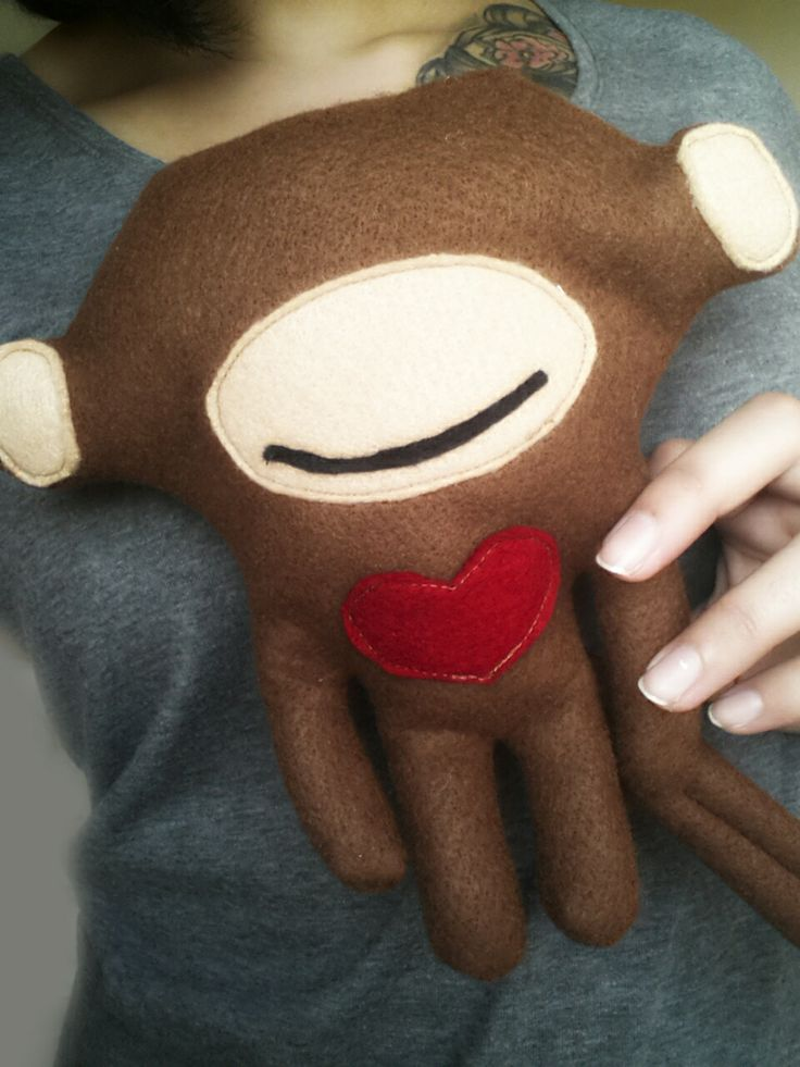 """""""Love is Blind"""" Monkey - These little guys are going for R120 each. Inbox me to place your order. https://www.facebook.com/imaginethemtoyshop"""