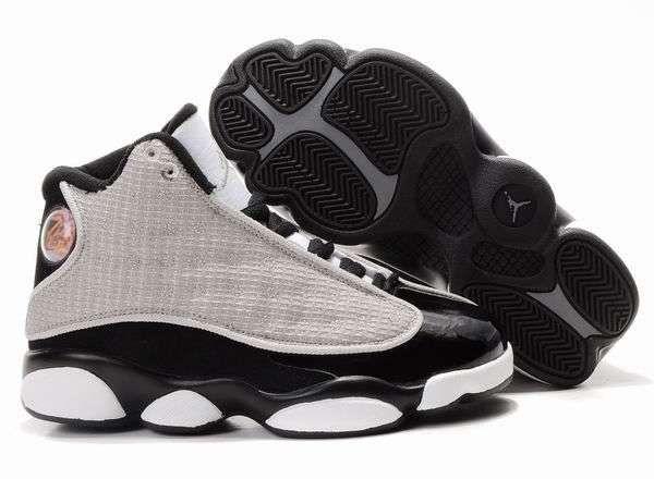 air jordan 13 retro grey black white