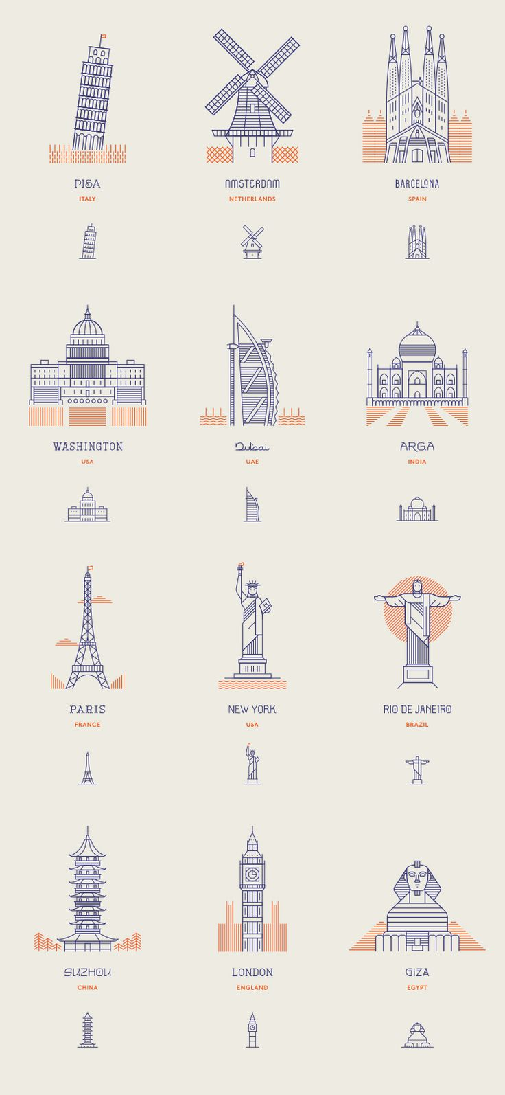 Makers Co. | World Landmarks 선-구체묘사