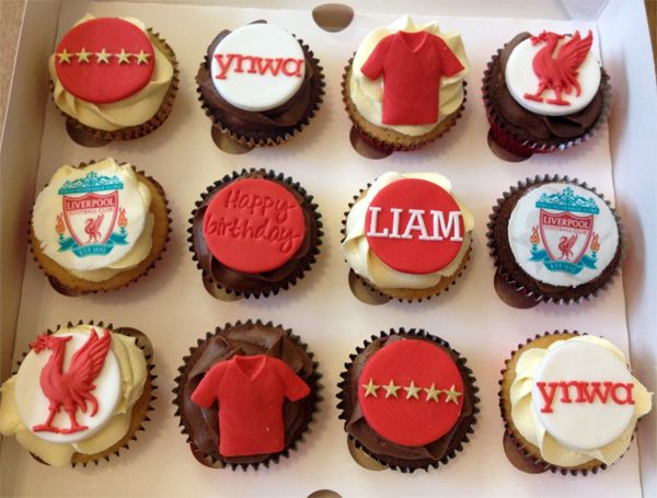 Liverpool Football Club LFC Cupcakes. Thought you might like these @officiallfc: Cupcakes Inspiration, Club Cupcakes, Birthday Parties, Lfc Cupcakes, Cupcakes Rosa-Choqu, Football Birthday