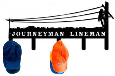 New from TNT | 20 x 10 Metal Journeyman Lineman Capholder