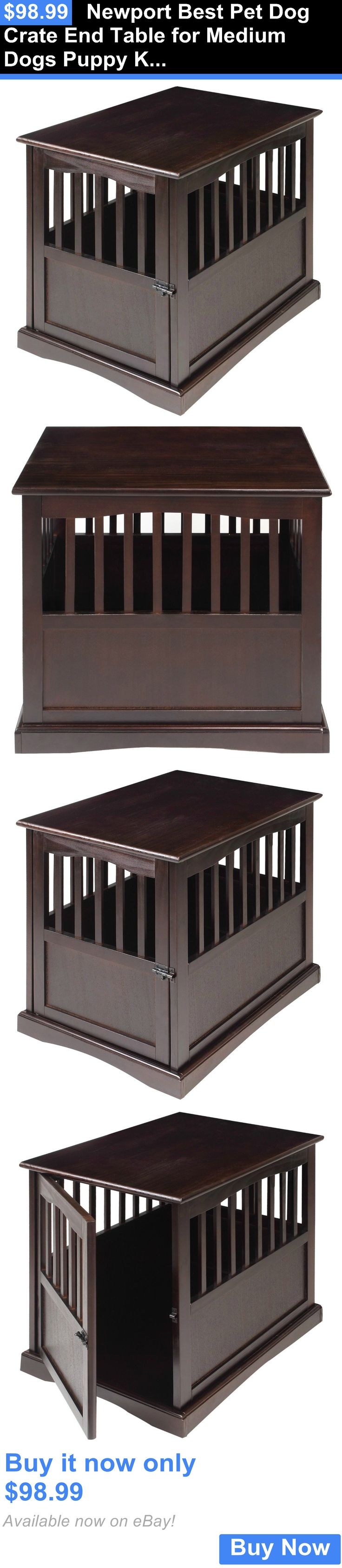 Animals Dog: Newport Best Pet Dog Crate End Table For Medium Dogs Puppy Kennel Cage Wood BUY IT NOW ONLY: $98.99