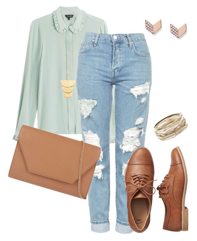 """Untitled #133"" by snany on Polyvore featuring Tara Jarmon, Topshop, MaxMara, Gap, Kendra Scott, FOSSIL and Gorjana"