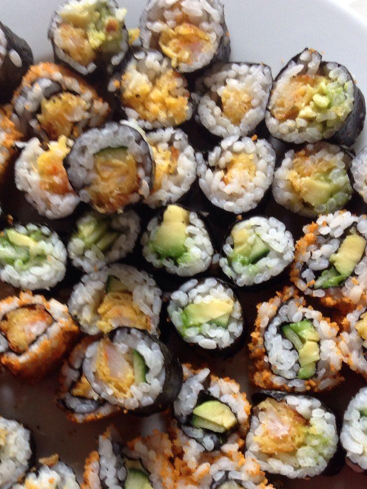 Zelfgemaakte sushi