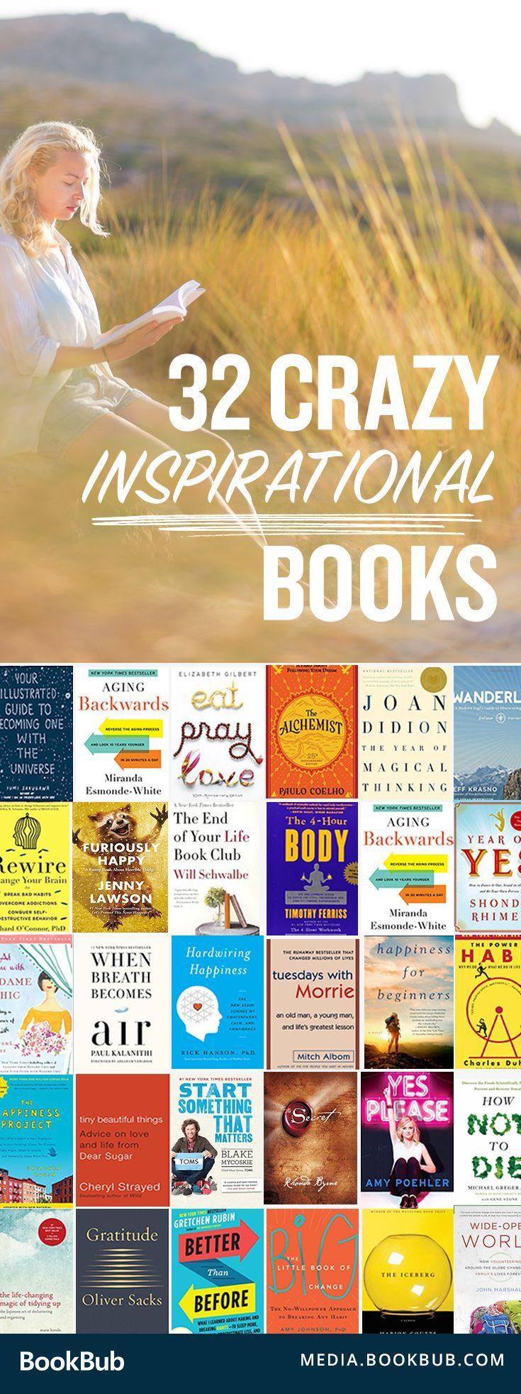 32 Crazy Inspirational Books To Read Including Self Help Books, Memoirs  And Reads With