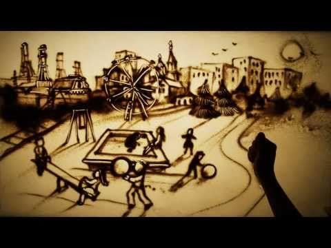 sand artist Kseniya Simonova pays tribute to the lives lost in the Chernobyl Disaster