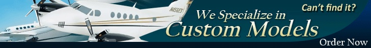 Warplanes accepts made-to-order or custom model airplanes.    http://www.warplanes.com/model-airplanes/a-custom-model-airplane