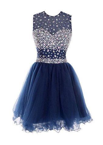 Beaded short Prom Dress Short homecoming dress I044