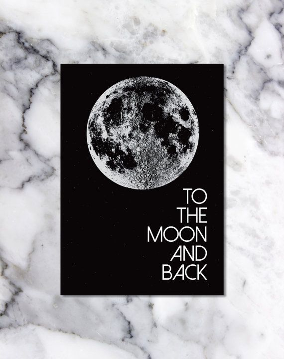 To The Moon And Back Digital Download  by StaceyLeeLoves on Etsy