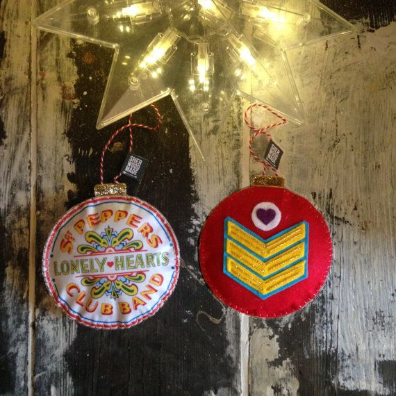Sgt Peppers Drum Lonely Hearts Club Christmas by SHERWOODMADEUK