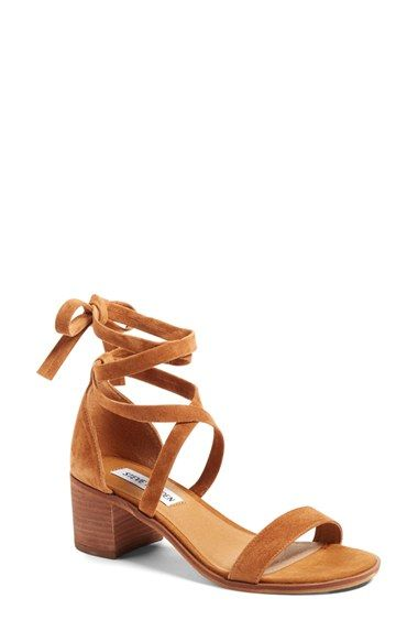 Free shipping and returns on Steve Madden 'Rizzaa' Ankle Strap Sandal (Women) at Nordstrom.com. Wraparound suede straps and a stacked…
