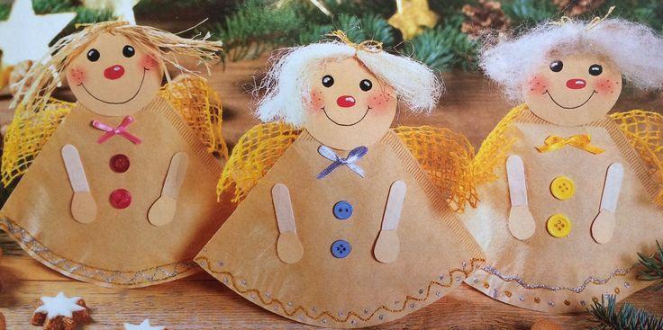 Anges faits avec des filtres à café