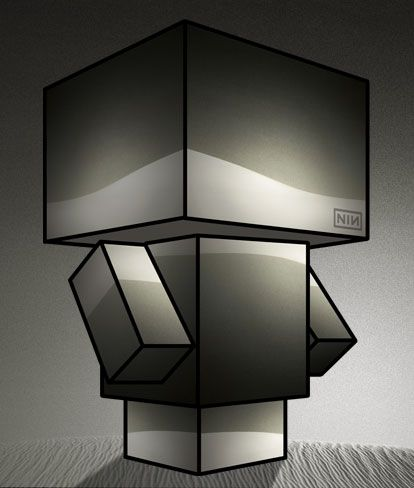 NIN Ghosts papercraft - http://www.cubeecraft.com/blog/nine-inch-nails-hesitation-marks/